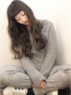 ヘアー サンディ(hair SUNDY) ★ 外国人風リラックスstyleおん眉×アッシュグレージュ long ★