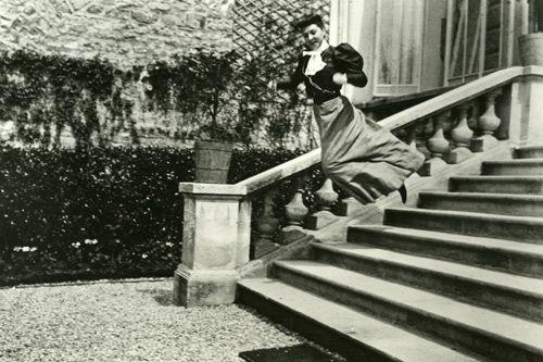 Some of Lartigue's amazing photos of motion: Bichonnade Leaping (Jacques-Henri's cousin), 1905 (i.e. taken when Lartique was 11!)
