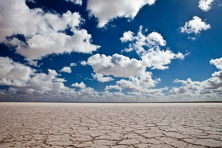 The Barron Salt Flats of the Woomera
