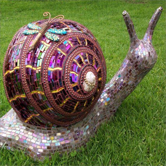 Snails Bowling Ball Garden And Bowling Ball On Pinterest