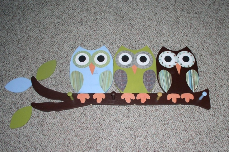 Owl Clothing Rack/Towel Rack/Peg Rack. $74.99, via Etsy. I think I would love to make one myself...even though it'd probably be very hard!