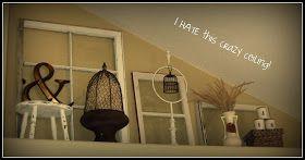 Ledge decor in the bedroom