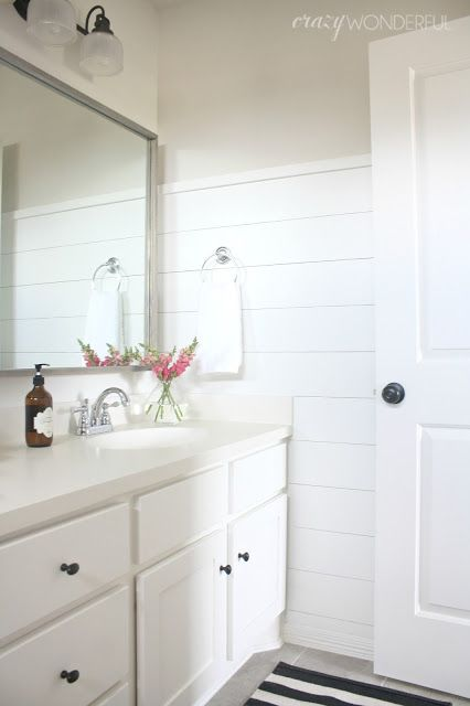 Crazy Wonderful Diy Shiplap Girl S Bathroom Reveal