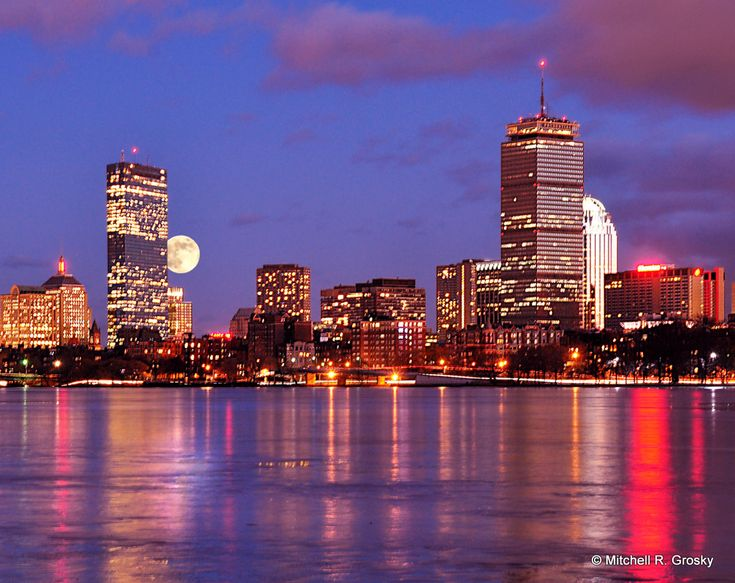 Boston images | Boston Skyline from the Charles | Mitchell R. Grosky Photography Blog... love it