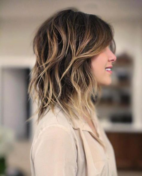 Layered Shaggy Balayage Hair