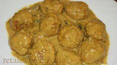 Retales de ingenio: Recetas y Dietética: Albóndigas en salsa de mostaza