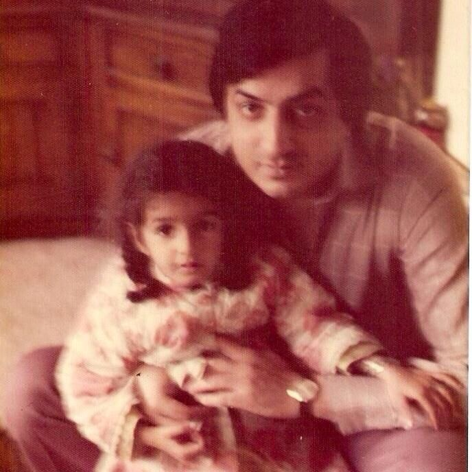 Nadia Jamil With Her Father