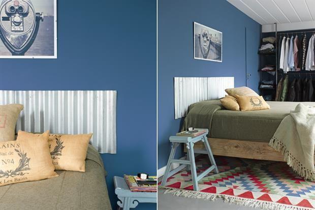 8 propuestas para decorar tu cuarto  Una opción original para la cabecera hecha con chapa galvanizada.  Foto:Living /Archivo LIVING