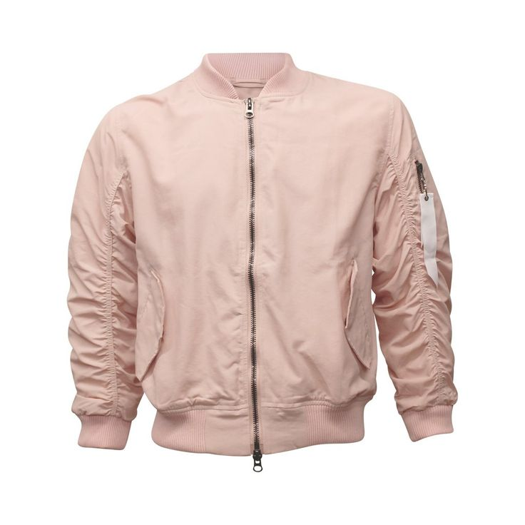 Light Pink Bomber Jacket (Unisex) // zargara streetwear hypebeast highsnobiety complex // www.babesngents.com
