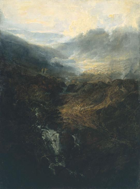 Joseph Mallord William Turner (1775–1851) 'Morning amongst the Coniston Fells, Cumberland', exhibited 1798