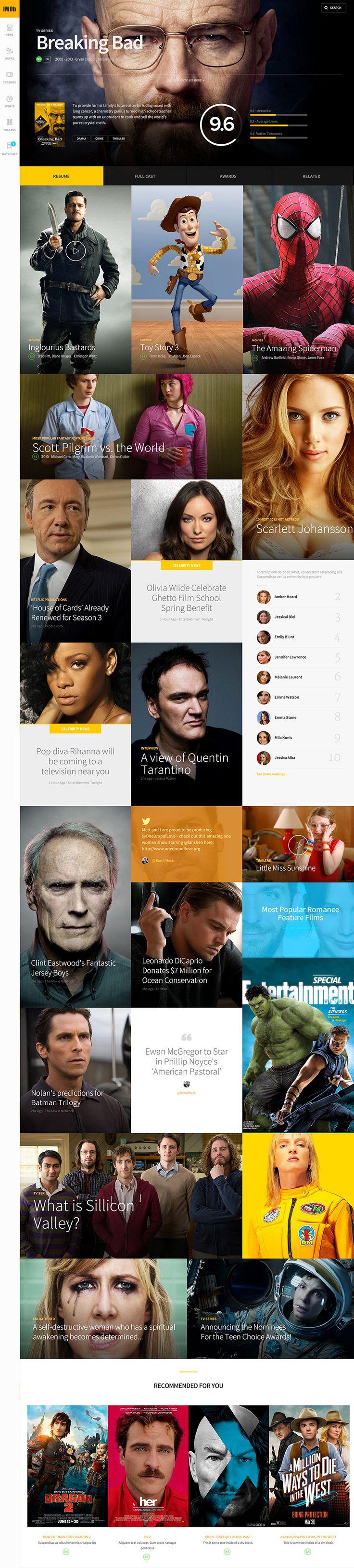Concept Design for IMDb | Abduzeedo Design Inspiration