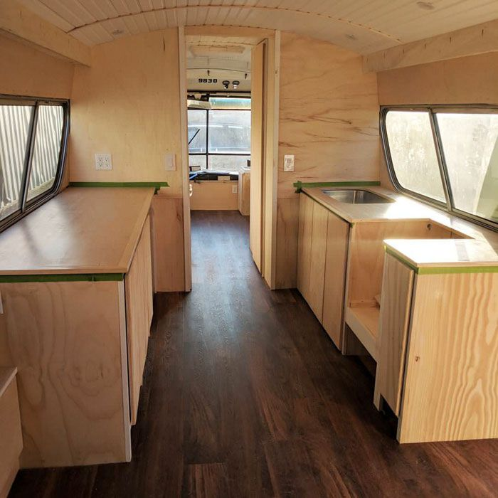 Woman Spends 3 Years Converting Old Bus Into Mobile Home And It Looks Better Than Most Apartments Scandinavian Design Living Room Home Construction Bus House