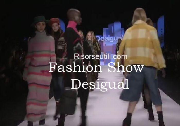 Fashion show Desigual fall winter 2016 2017 womenswear