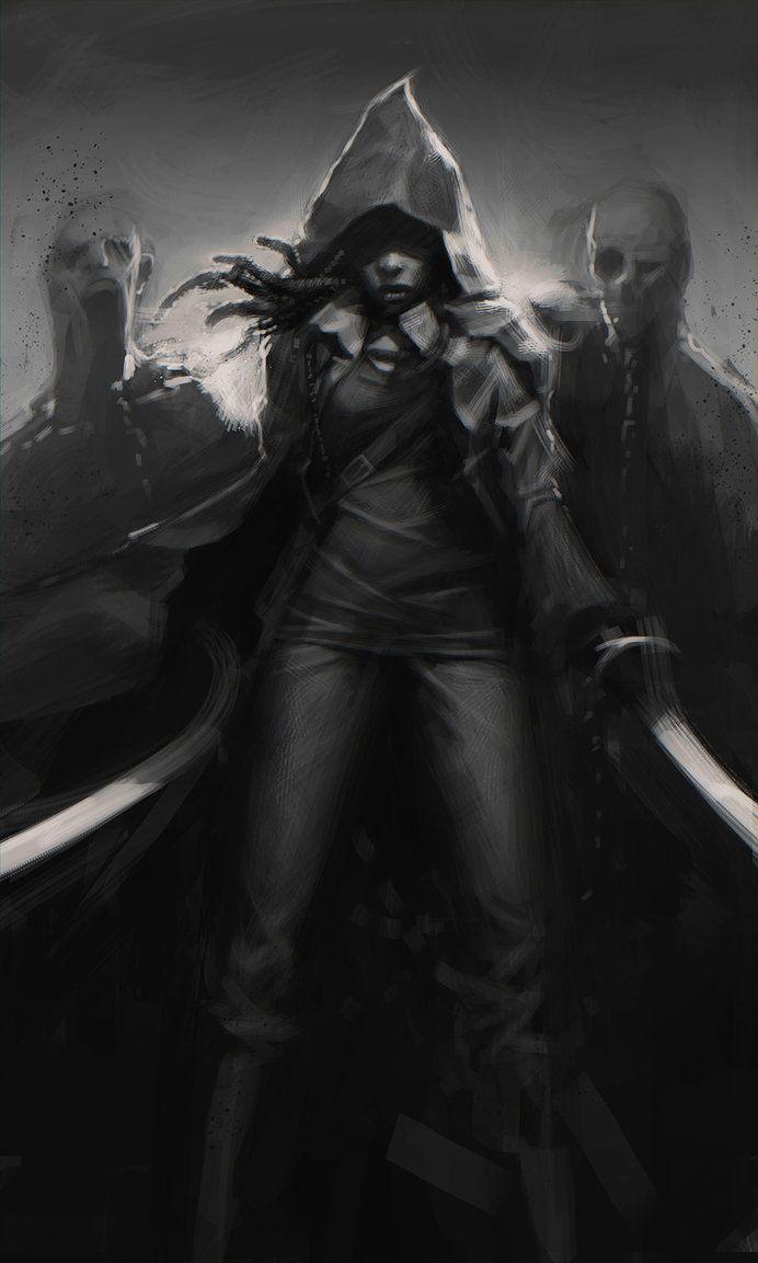 Michonne ~ The Walking Dead Fan Art https://www.facebook.com/ZombieCPC