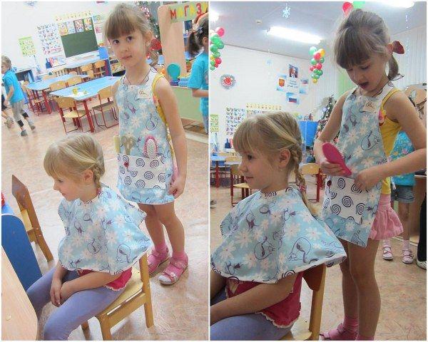 Матрёшкин блог: Фартук и накидка для парикмахера