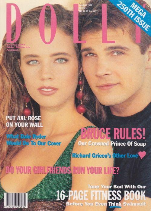 Dolly Magazine (Australia) August 1991 | Rebecca Kelly & Bruce Samazan