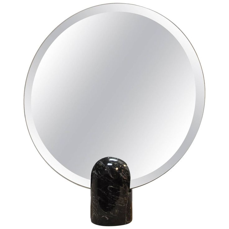 Modern Italian Mirror with Marble Base | From a unique collection of antique and modern table mirrors at https://www.1stdibs.com/furniture/mirrors/table-mirrors/