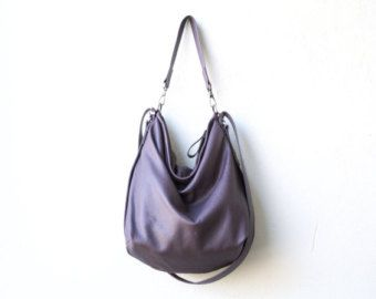 saddle leather backpack purse  HOBO PACK in soft lightweight