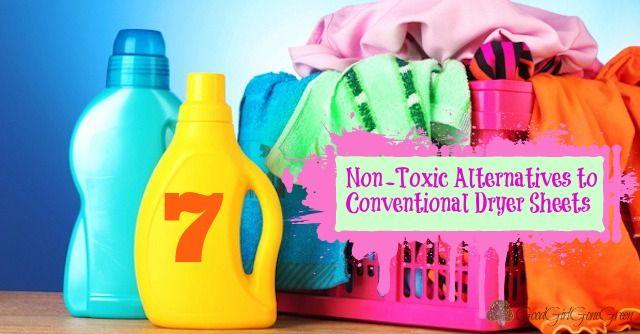 7 Non-Toxic Alternatives to Conventional Dryer Sheets GoodGirlGoneGreen.com #nontoxic #safe #ecofriendly