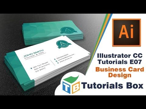 In This Video I M Gonna Show You How To Make A Modern Business Card Design Using Illustrator Cc Well Hope Enjoy Tutorial And Learn Something