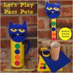 Do you need a fun activity for Back to School?  I LOVE Pete the Cat Books and this game too.  Directions for making a Pass the Pete included along with printable.