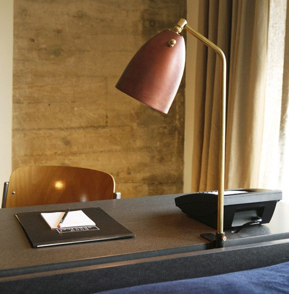 "A de T + ACE Hotel limited edition desk lamp #1 $565 16"" tall x 6"" shade diameter"