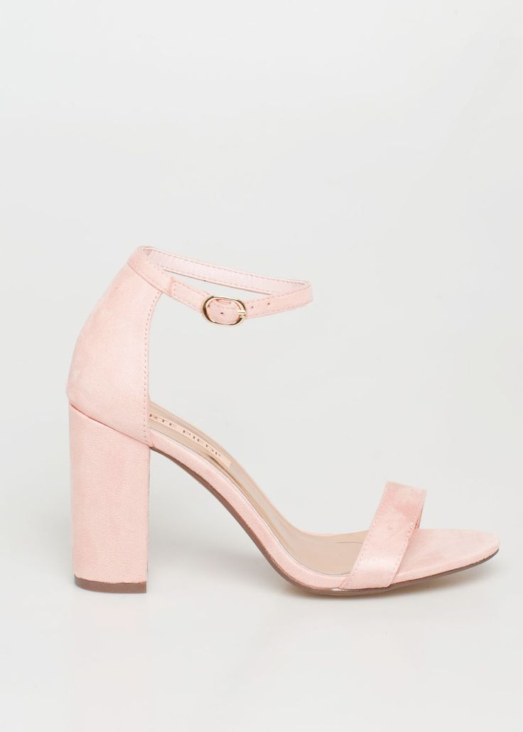 Binx barely there sandal, baby pink
