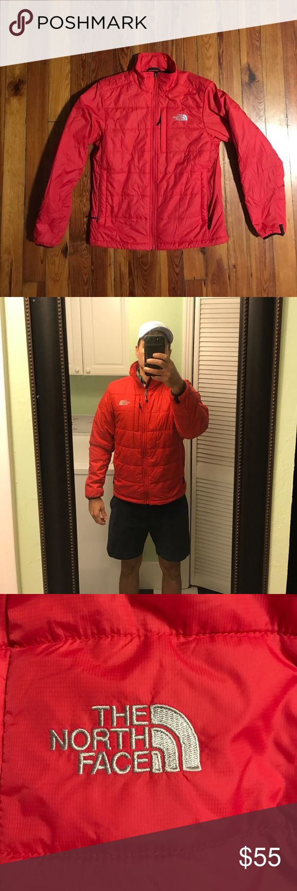 North Face Down Jacket Super comfy and super warm down jacket from the North Face outlet. It has two pockets on each side of the jacket near the waist, and a chest pocket near the top logo.  This jacket  was rarely worn, because I live in Florida, but will keep you very warm in cold weather. The North Face Jackets & Coats Performance Jackets