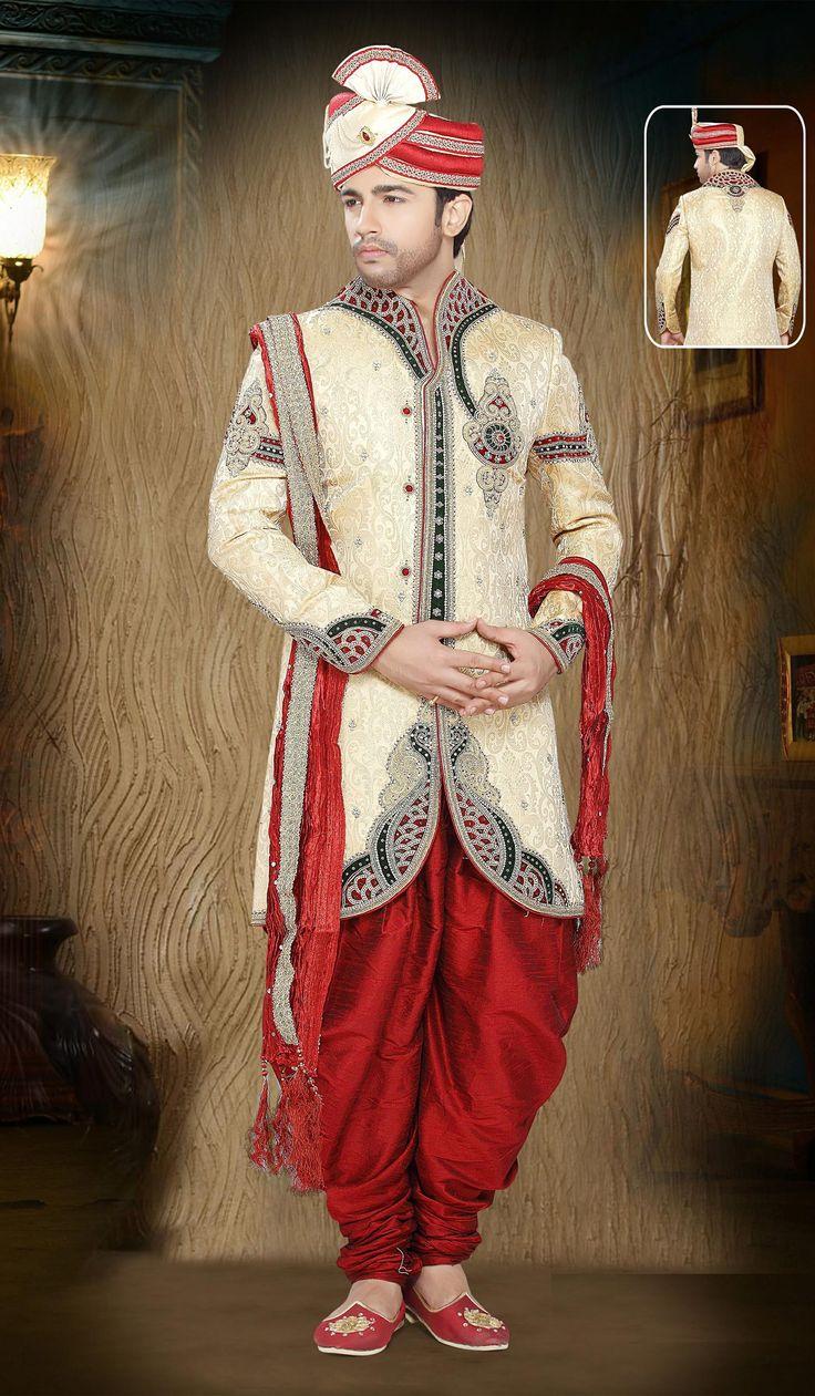 Gold-Jaquard-Indian-Designer-Indo-Western-With-Dhoti.jpg (1400×2400)