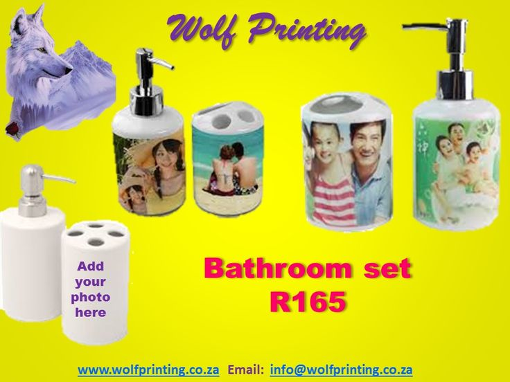 Personalise your bathroom set
