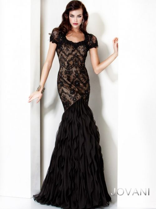 Lace Beaded Embellished Gown, Style 4780