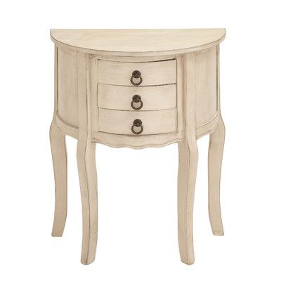 3 Drawer Nightstand Color: Off White - http://delanico.com/nightstands/3-drawer-nightstand-color-off-white-519402558/