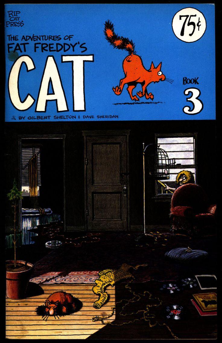 FAT FREDDY's CAT #3 Gilbert Shelton Dave Sheridan Fabulous Freak Brothers Digest Sized Underground Comics