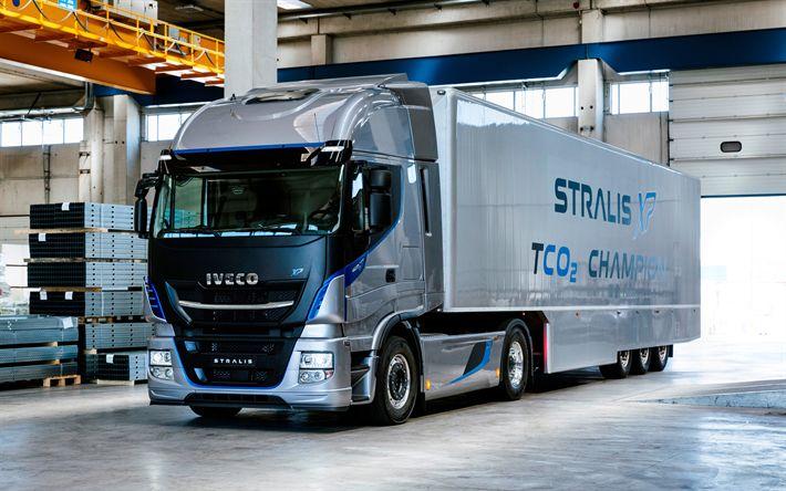 Lataa kuva Iveco Stralis XP, 4k, 2017 kuorma-autot, tehdas, kuorma-autot, IVECO, uusi Stralis