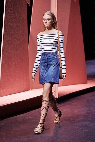 Shop Women's Clothing Australia - Witchery Online - Denim A Line Skirt
