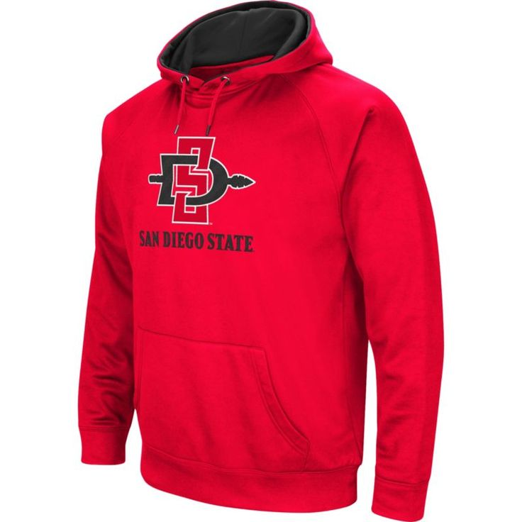 Colosseum Men's San Diego State Aztecs Red Performance Hoodie, Size: Medium, Team