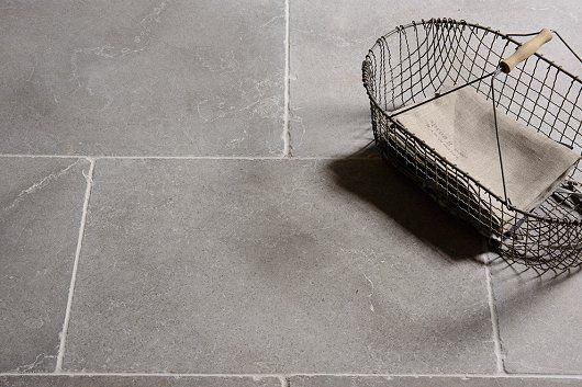 Floors of Stone presents natural Dove Grey Tumbled Limestone | Kitchens Review