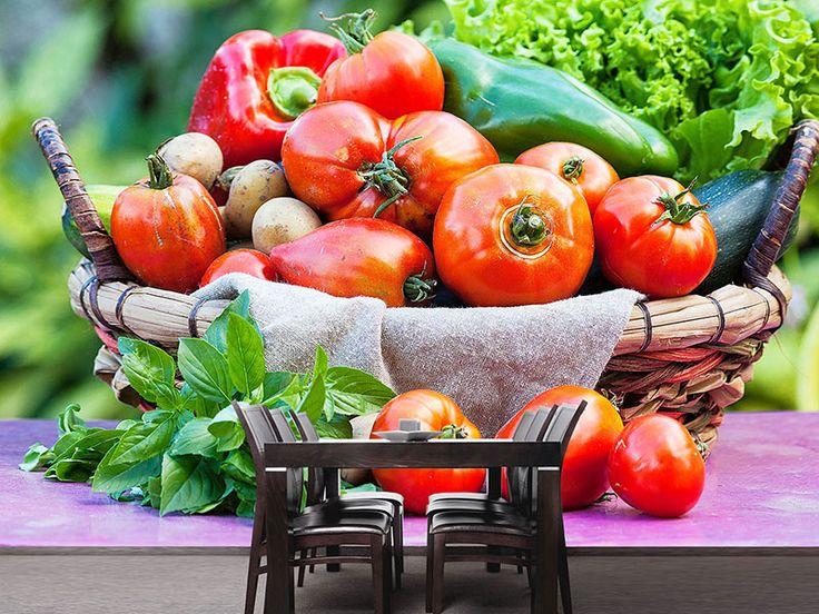 Foto #Tapete Gemüsekorb