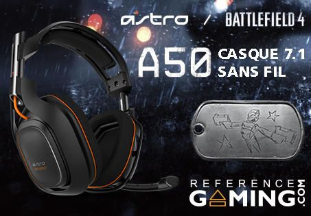 Casque Astro A50 Wireless + MixAmp TX Dolby 7.1 #Battlefield4 #PS4 #XBOXONE #XBOX360 #PS3 #PC