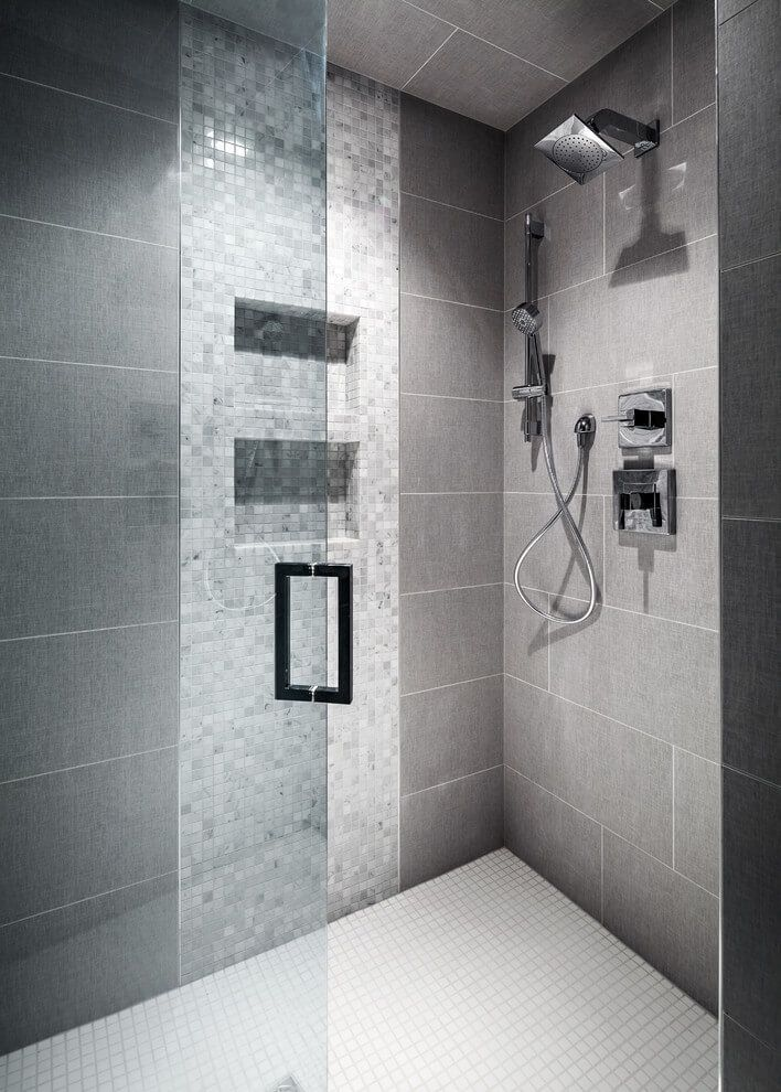 Best 25 gray shower tile ideas on pinterest grey tile for Contemporary bathroom tiles design ideas