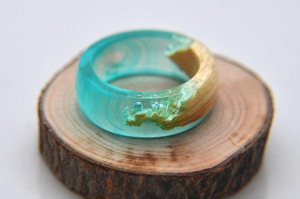 Как сделать кольцо из дерева и эпоксидной смолы своими руками кольцо из дерева, эпоксидна смола, Своими руками, мастер-класс, длиннопост, кольцо