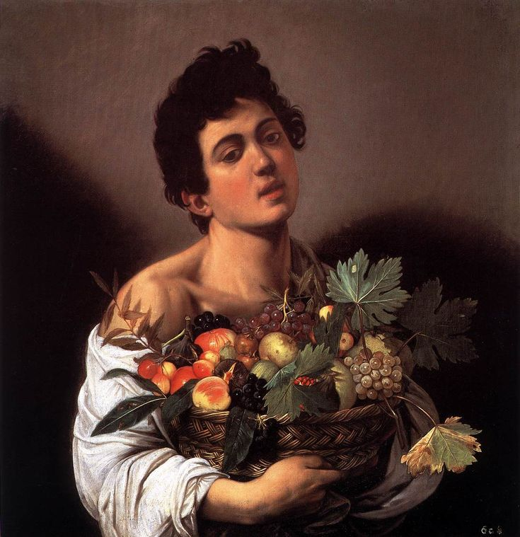 Caravaggio, Boy with a Basket of Fruit, ca.1593, Galleria Borghese, Rome