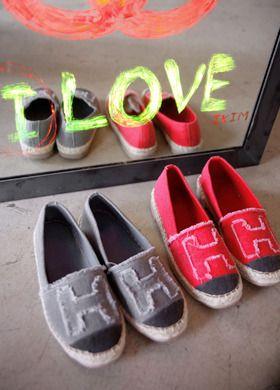Frayed H Weave Slip-On Shoes  SFSELFAA0012661