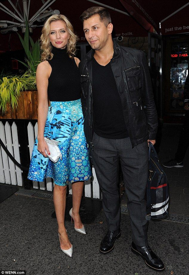 Date night: Rachel Riley and Pasha Kovalev attended The Self Esteem Team Book launch party in Shoreditch, London on Wednesday night