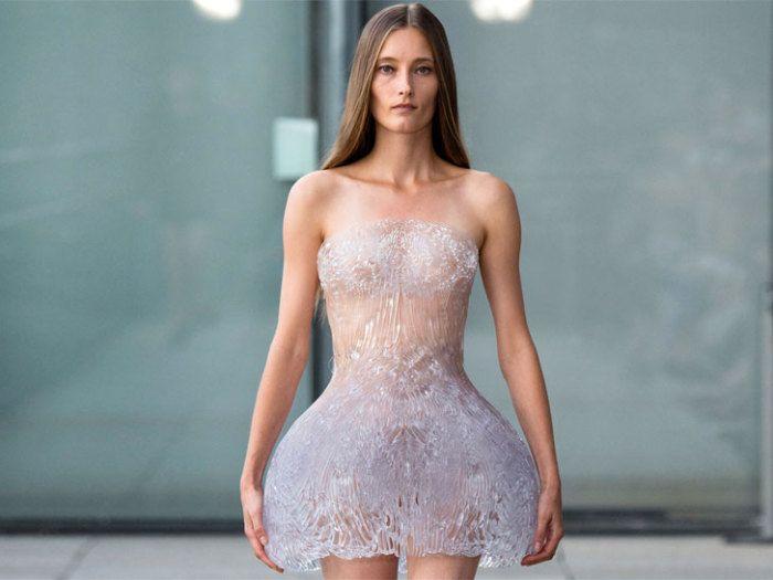 Ледяное платье, отпечатанное на 3D-принтере.