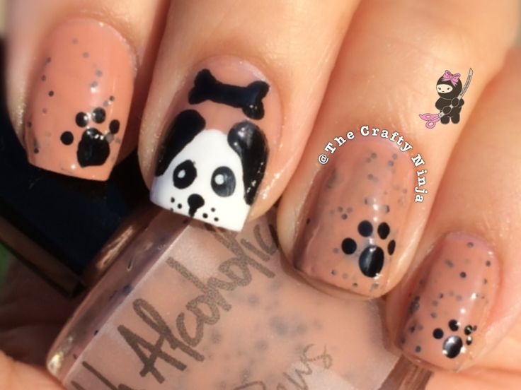 Puppy a Paws Nail Tutorial by The Crafty Ninja