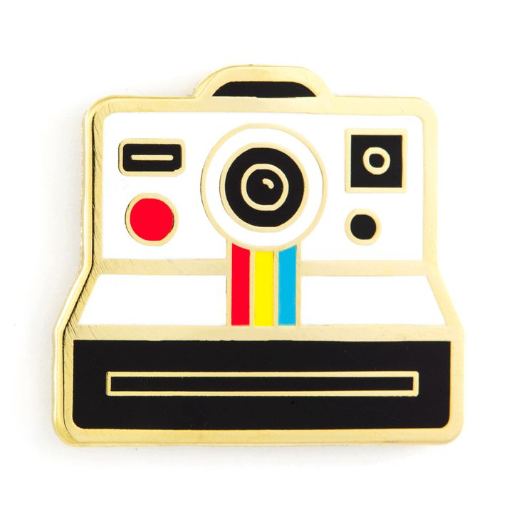 POLAROID INSTANT CAMERA ENAMEL PIN