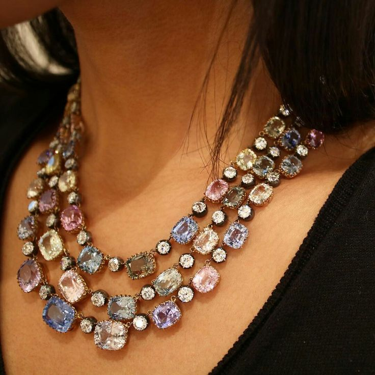 #tbt to Véronique Bamps in Paris and this beautiful 19th century sapphire and d...
