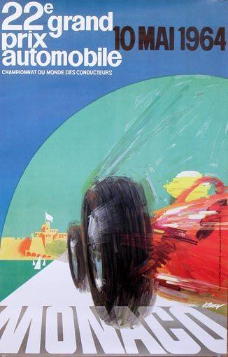 Monaco Grand Prix poster 1964
