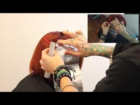 Block Color Technique : Jack-O-Lantern [2014 Hair Color Style]
